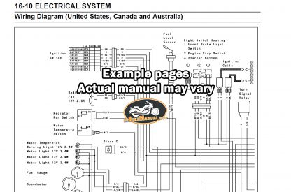 Service Repair Manual Example Diagram